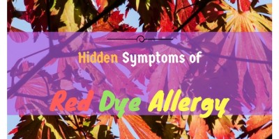 red dye allergy