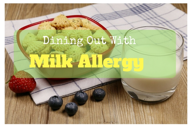 dining out with milk allergy